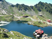 Bâlea Lake. Is a glacier lake situated at 2,034 m of altitude in the Făgăraş Mountains, in central Romania, in Sibiu County Royalty Free Stock Images