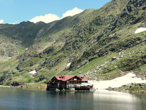 Bâlea Lake. Is a glacier lake situated at 2,034 m of altitude in the Făgăraş Mountains, in central Romania, in Sibiu County Royalty Free Stock Image