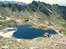 Bâlea Lake. Is a glacier lake situated at 2,034 m of altitude in the Făgăraş Mountains, in central Romania, in Sibiu County Stock Photography
