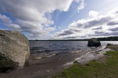 Böles-Noran jezioro, Szwecja obrazy royalty free