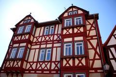 BÃ ¼ dingen的,德国半木材议院 免版税库存图片