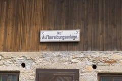 Böckstein, Salisburgo Austria - 9 giugno 2017: Vecchia estrazione dell'oro MU Fotografie Stock Libere da Diritti