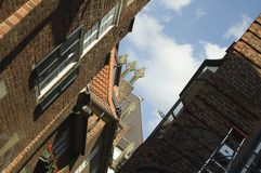 Böttcher gränd med konstbyggnad i Bremen Arkivbild