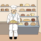 Bäcker lizenzfreie abbildung