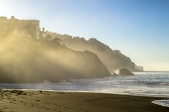 Bäcker Beach in San Francisco lizenzfreie stockbilder