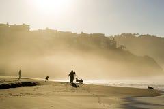 Bäcker Beach Sunlight Glow lizenzfreie stockbilder