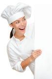 Bäcker-, Chef- oder Kochzeichen Lizenzfreies Stockbild