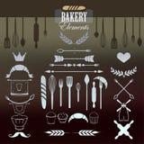Bäcker Elements für Ihr Design Stockfotos