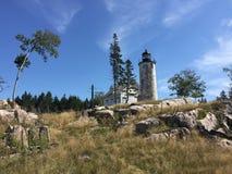 Bäcker-Insel-Leuchtturm lizenzfreies stockbild