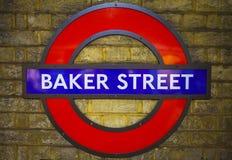 Bäcker Street Underground Station in London Lizenzfreies Stockfoto