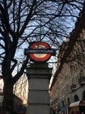 Bäcker-Street Underground Stations-Zeichen Stockfotografie