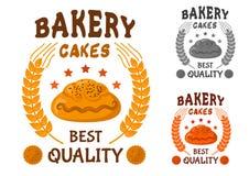Bäckerei backt Ikone mit süßem Brötchen zusammen Lizenzfreie Stockfotografie