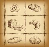 Bäckerei-Brot Nahtloses Hintergrundmuster stock abbildung
