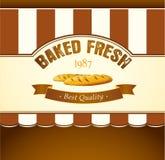 Bäckerei-Brot Nahtloses Hintergrundmuster Aufkleber verpacken für Brot, Stangenbrot, Laib, der Kuchen, gebacken, Hörnchen, Brötch vektor abbildung