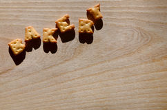 bäckerei Essbare Buchstaben Stockbilder
