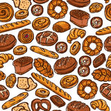 Bäckerei-Farbnahtloses Muster Stockfotografie