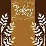 Bäckerei gerade ein Brotweizen-Hintergrund-Vektor Lizenzfreie Stockfotografie