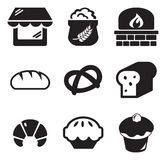 Bäckerei-Ikonen Stockbilder