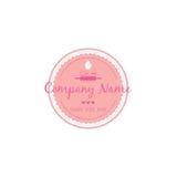 Bäckerei, Nachtisch Logo Vector Design Illustration Stockfotografie