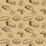 bäckerei Nahtloses Hintergrundmuster Lizenzfreie Stockbilder