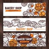 Bäckerei-Shop-Design-Skizze Stockbild