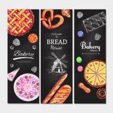 Bäckerei und Brot banners3 Lizenzfreie Stockfotografie
