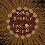 Bäckerei-und Gebäck-Brown-Hintergrund-Vektor Lizenzfreies Stockbild