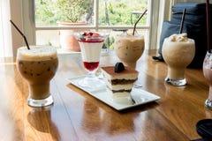 Bäckerei und Kaffee Stockfoto