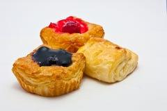 Bäckerei und Pfirsich Stockfotos