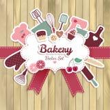 Bäckerei und süße abstrakte Illustration stock abbildung