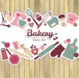 Bäckerei und süße abstrakte Illustration lizenzfreie abbildung