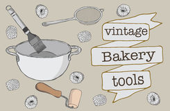 Bäckerei-Werkzeuge Lizenzfreie Stockbilder