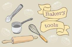 Bäckerei-Werkzeuge Stockfotos