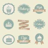 Bäckereiaufkleber stock abbildung