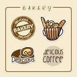 Bäckereiaufkleber Stockfotografie