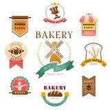 Bäckereiaufkleber Stockfotos