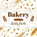 Bäckereifahne Weinlesevektorillustration Lizenzfreies Stockbild