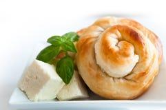 Bäckereihintergrund - Käsetorte stockbild