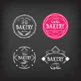 Bäckereiikonendesign Menüausweisweinlese Lizenzfreie Stockfotos