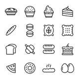 Bäckereiikonensatz Lizenzfreies Stockfoto