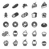 Bäckereiikonensatz Lizenzfreies Stockbild