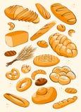 Bäckereiproduktsatz Stockfoto