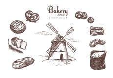Bäckereishop stellte 4 ein Lizenzfreies Stockfoto