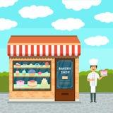 Bäckereishop und -koch Stockfotos