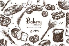 Bäckereishoprahmen Lizenzfreie Stockfotos