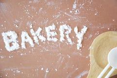 Bäckereitext Stockfotos