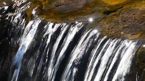 Bäckvattenström med den lilla klyftan stock video
