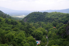 Bäder und Berge Stockfotos