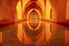 Bäder von Dona Maria de Padilla Alcazar Royal Palace Sevilla Spanien Lizenzfreies Stockbild