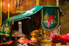 Bägare för nattvardsgång i den ortodoxa kloster kiev Royaltyfri Fotografi